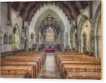 St Davids Church Wood Print by Adrian Evans