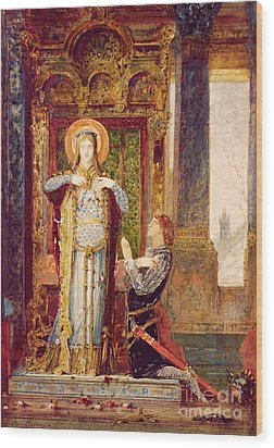St Elisabeth Of Hungary Or The Miracle Of The Roses Wood Print by Gustave Moreau