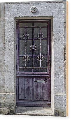 St Emilion Door Wood Print by Georgia Fowler