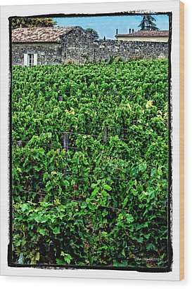 Wood Print featuring the photograph St. Emilion Winery by Joan  Minchak