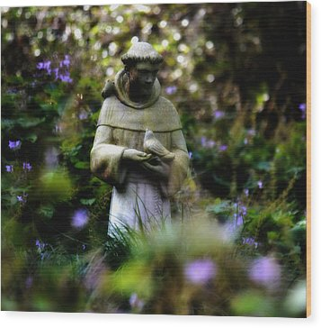 St. Francis Of Assisi Wood Print by Tara Miller