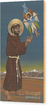 Wood Print featuring the painting St. Francis Patron Of Colorado 186 by William Hart McNichols