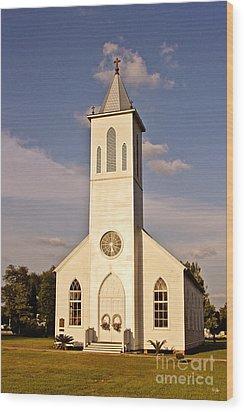 St. Gabriel The Archangel Catholic Church Wood Print by Scott Pellegrin
