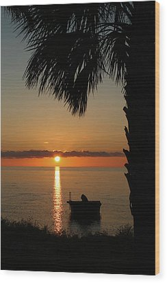 St. George Island Sunset Wood Print by Lynn Jordan