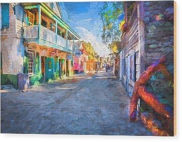 St George Street St Augustine Florida Painted Wood Print