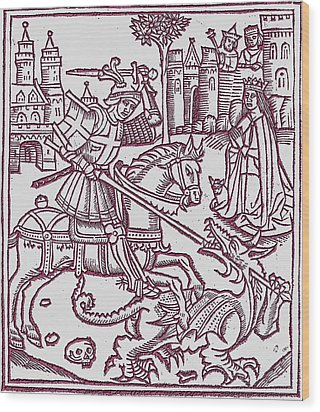 St. George - Woodcut Wood Print
