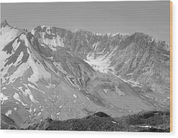 St. Helen's Crater Wood Print