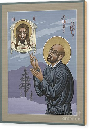 St. Ignatius Amidst Alaska 141 Wood Print by William Hart McNichols