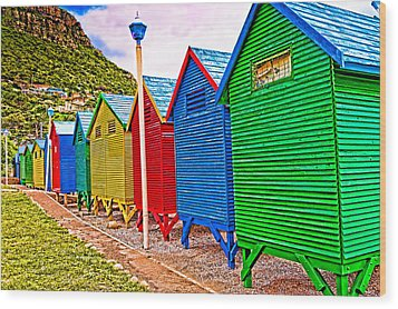St James Beach Houses From Behind Wood Print by Cliff C Morris Jr