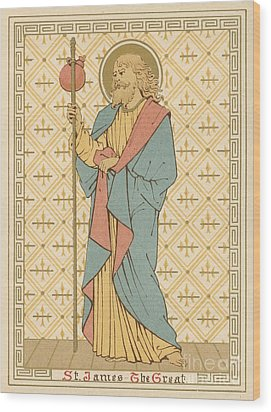 St James The Great Wood Print by English School