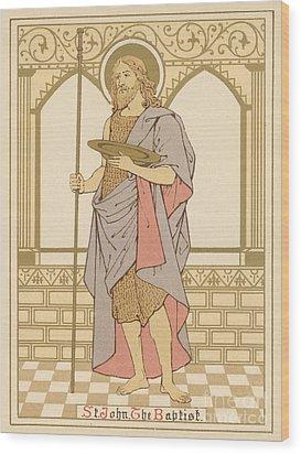 St John The Baptist Wood Print by English School