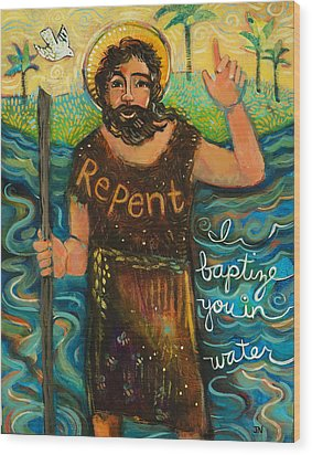St. John The Baptist Wood Print