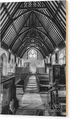 St John Ysbyty Ifan Wood Print by Adrian Evans