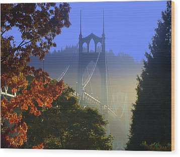 St. Johns Bridge Wood Print by DerekTXFactor Creative
