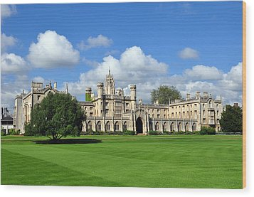 St. John's College Cambridge Wood Print