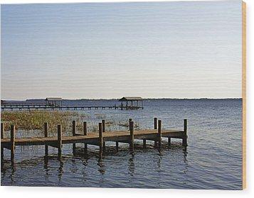 St Johns River Florida - Walk This Way Wood Print by Christine Till