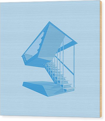 St John's Stairs Wood Print by Peter Cassidy