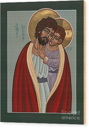 St. Joseph And The Holy Child 239 Wood Print by William Hart McNichols