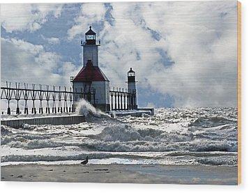 St Joseph Lighthouse Wood Print by Cheryl Cencich