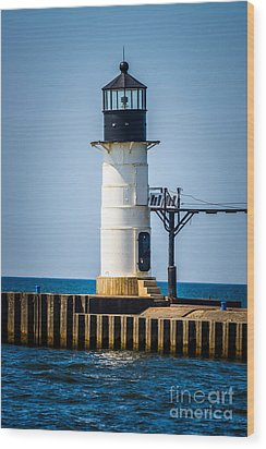 St. Joseph Outer Lighthouse Photo Wood Print by Paul Velgos