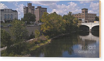 St. Joseph River Panorama Wood Print by Anna Lisa Yoder