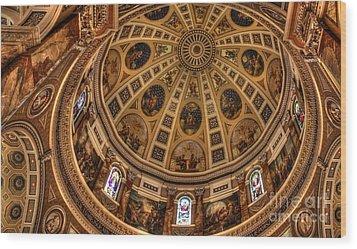 St. Josephat Dome Wood Print by David Bearden