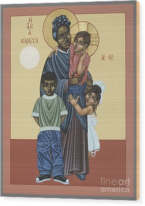 St. Josephine Bakhita Universal Sister 095 Wood Print by William Hart McNichols