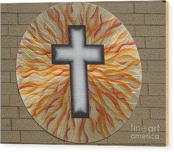 St. Josephs Cross Wood Print by Rick Roth