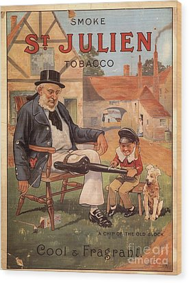 St Julien 1890s Uk Cigarettes Smoking Wood Print by The Advertising Archives