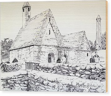 St Kevin's Wood Print