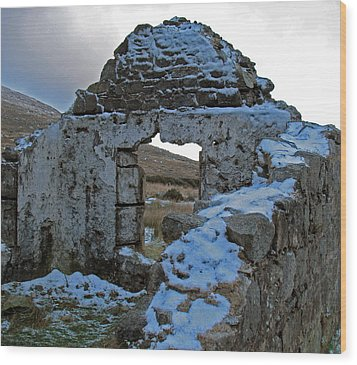 Wood Print featuring the photograph St Kevin's Window by Kathleen Scanlan