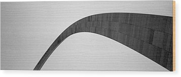 St. Louis Arch Wood Print by Mary Bedy