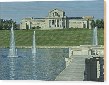 St Louis Art Museum And Grand Basin Wood Print