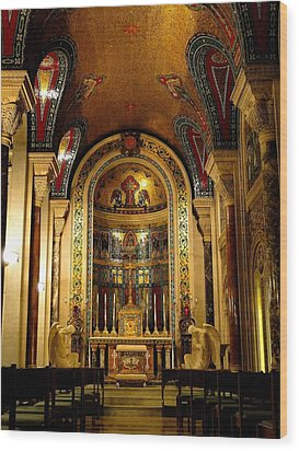 St Louis Cathedral Basilica Wood Print