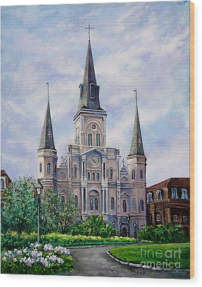 St. Louis Cathedral Wood Print by Dianne Parks