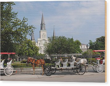 Wood Print featuring the photograph St Louis Cathedral by Robert  Moss