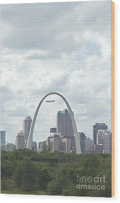 St. Louis Cityscape Wood Print by Kay Pickens
