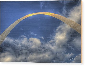 St. Louis Gateway Arch On The Fourth Of July Wood Print