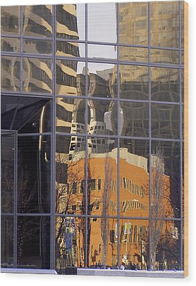 St. Louis Reflection Wood Print by Jane Eleanor Nicholas