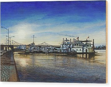St. Louis Riverfront Wood Print
