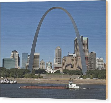 St Louis Skyline Wood Print