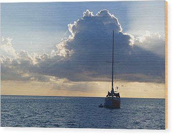 Wood Print featuring the photograph St. Lucia - Cruise - Sailboat by Nora Boghossian