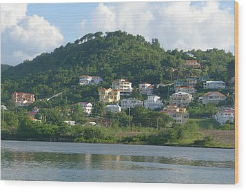 St. Lucia - Cruise View  Wood Print