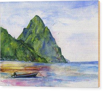 St. Lucia Wood Print