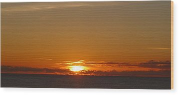 St. Lucia - Sunset Wood Print