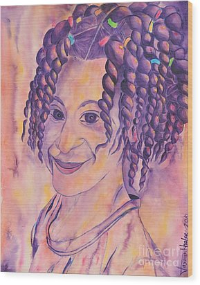 St. Lucian Girl Wood Print