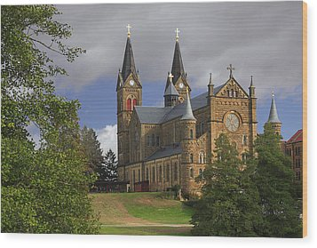 St. Mainrad Archabbey Wood Print by Wendell Thompson