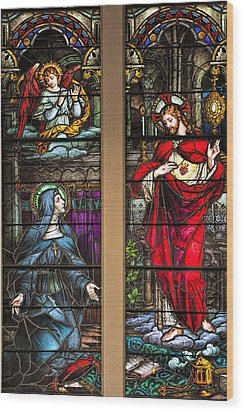St. Margaret Mary Alacoque And Sacred Heart Of Jesus Wood Print