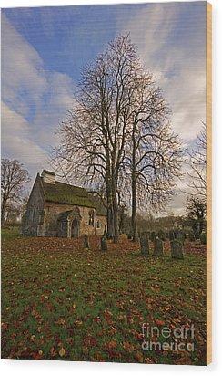 St Margaret Of Antiochs Church Linstead Wood Print by Darren Burroughs