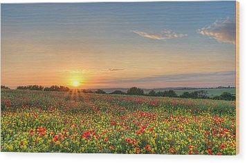 St Margarets Sunset Wood Print